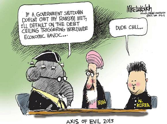 Cartoon on debt ceiling