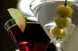 Artmore Hotel martinis, olives, limes