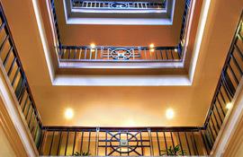 HarborView Inn interior balconies