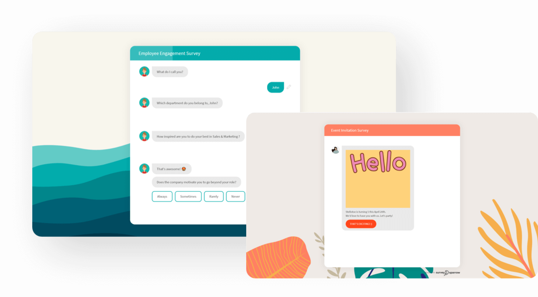 The Chat surveys from SurveySparrow help you engage your respondents & ensure higher completion rates.