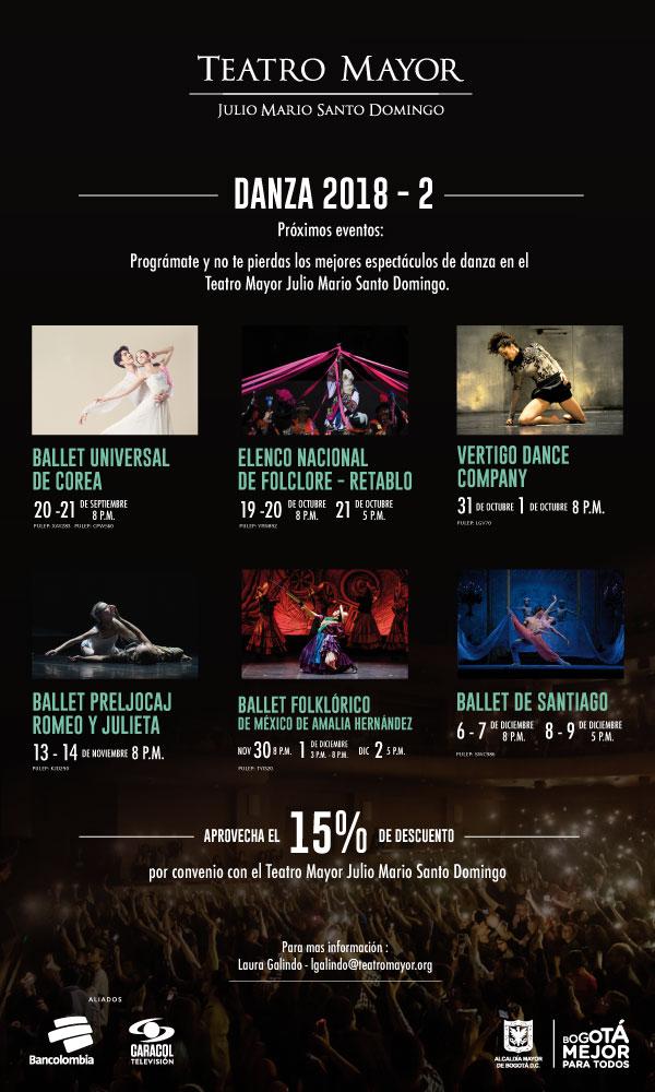 Los mejores espectáculos de Colombia y el mundo
