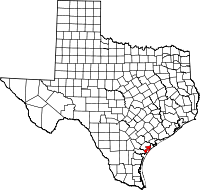 Small map of Aransas county