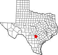 Small map of Bexar county