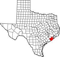 Small map of Brazoria county