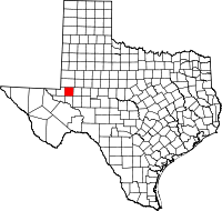 Small map of Ector county
