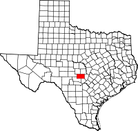 Small map of Gillespie county