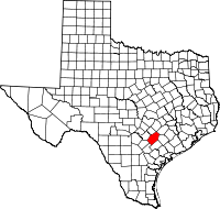 Small map of Gonzales county