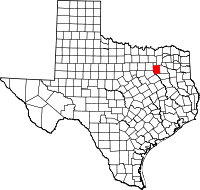 Small map of Kaufman county