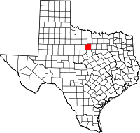 Small map of Palo Pinto county