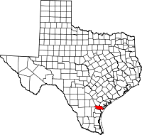 Small map of San Patricio county