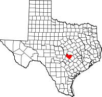 Small map of Travis county