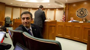 Rep. Giovanni Capriglione R-Soutlake waits to testify during a March 14th House Homeland Security & Public Safety committee hearing.