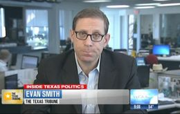 "Texas Tribune CEO and Editor-in-Chief Evan Smith on WFAA-TV's ""Inside Texas Politics"" on Feb. 16, 2014."