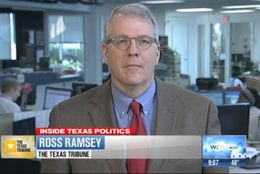 "Texas Tribune Executive Editor Ross Ramsey on WFAA-TV's ""Inside Texas Politics"" on April 6, 2014."