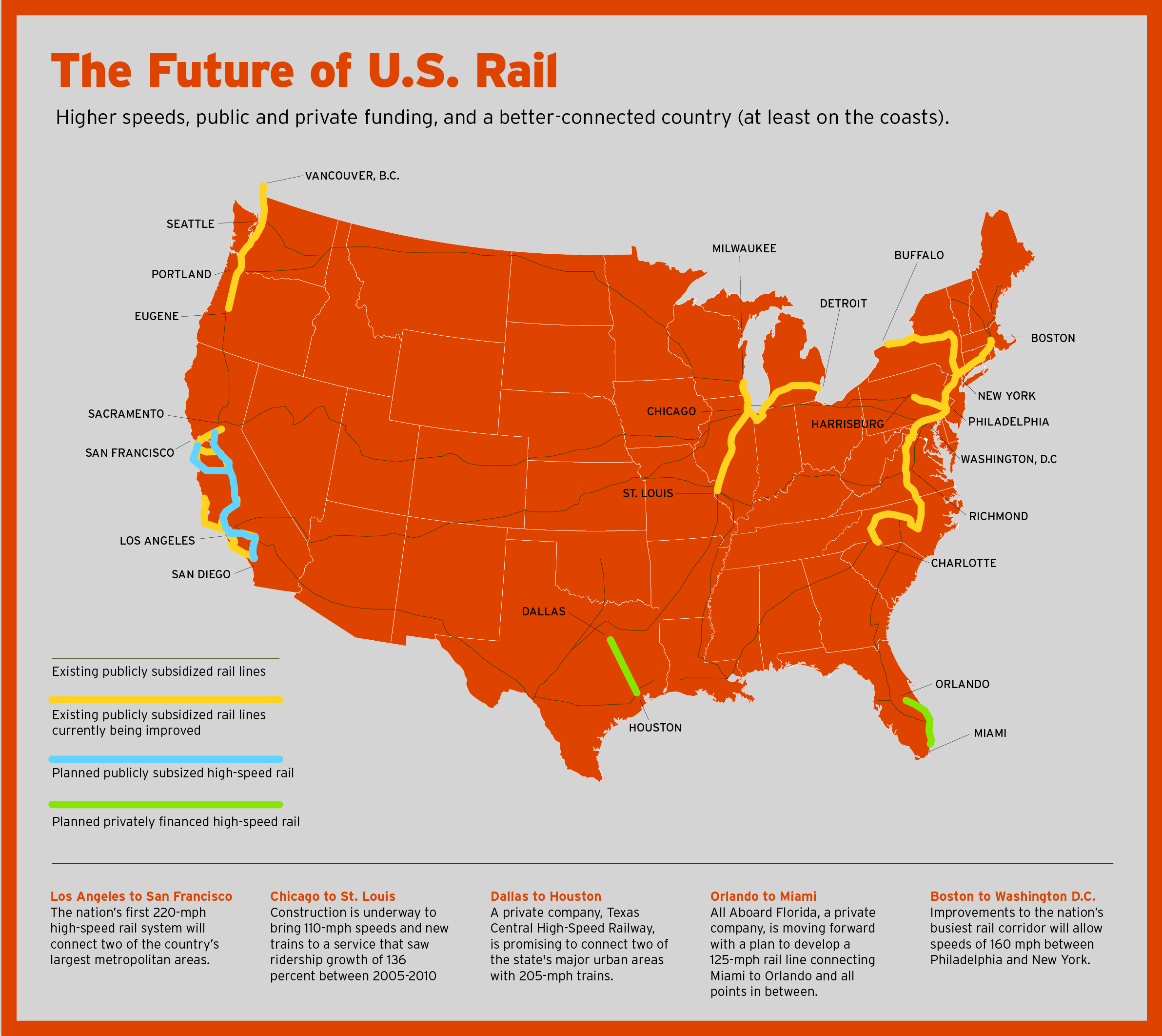 The Bullet Train That Could Change Everything The Texas Tribune - Us supertrain map