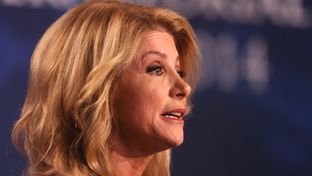 State Sen. Wendy Davis, D-Fort Worth, at a gubernatorial debate in Edinburg on Sept. 19, 2014.