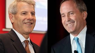 Attorney General candidates Sam Houston, left, and Ken Paxton, right, have not had a debate.