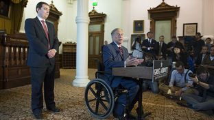 Governor-elect Greg Abbott announces that Daniel Hodge will lead his transition team on Nov. 5, 2014.