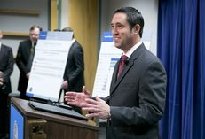 State Comptroller Glenn Hegar releases the revenue estimate on Jan. 12, 2015 to reporters and state officials the day before the legislative session.