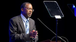 Dr. Ben Carson delivered a keynote speech Jan. 22, 2015, at the Texas Hospital Association conference in Austin.