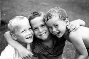 Jeb Bush, center, with younger brothers Neil and Marvin in 1961. Photo courtesy George Bush Presidential Library and Museum