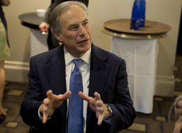 Gov. Greg Abbott speaks to reporters at  Texas Public Policy Foundation's grand opening of new building on April 21st, 2015