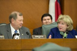 State Rep. John Otto, R-Dayton and Sen. Jane Nelson, R-Flower Mound, at Joint Committee on Appropriations May 20, 2015.