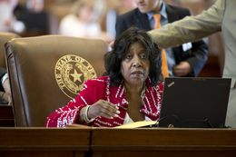 State Rep. Ruth Jones McClendon, D-San Antonio, waits to lay out HB48 on May 28, 2015.  The bill passed, 137-5, to create an exoneration commission that would review possible wrongdoing in felony convictions.