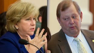 Sen. Jane Nelson, the Senate finance chairwoman, and Rep. John Otto, the House appropriations chairman.