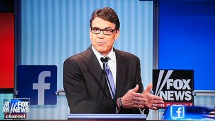 Former Gov. Rick Perry at the first GOP presidential debate in Cleveland, Ohio on Aug. 6, 2015.