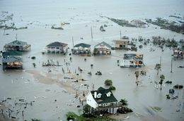 U.S. Airforce conduct search and rescue - Galveston Island, Texas, after Hurricane Ike Sept. 13.