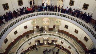 The Texas Capitol on the opening day of the 83rd legislative session, Jan. 8, 2013.