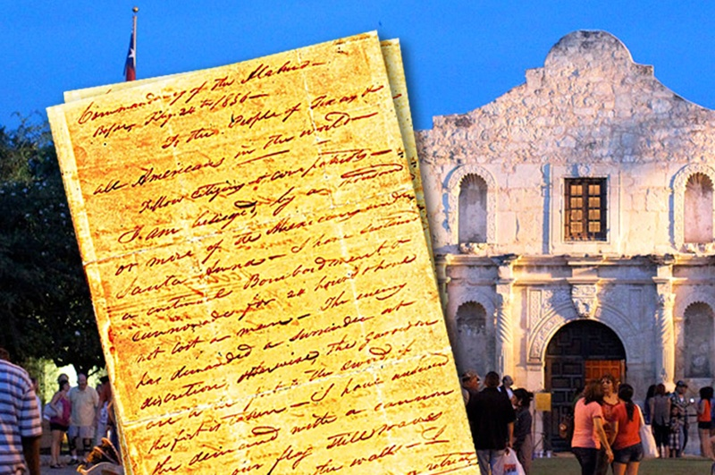or death letter to return to alamo for exhibit the texas