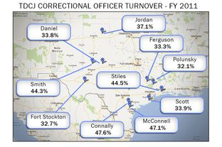 Map Of Texas Prisons.Grits For Breakfast No Easy Fixes For Texas Prison Staffing