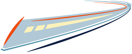 Bullet train graphic