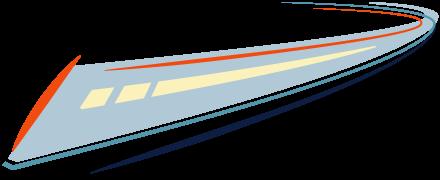 Bullet train graphic