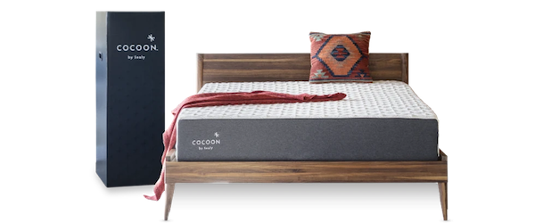 Cocoon by Sealy mattress next to box it delivered in