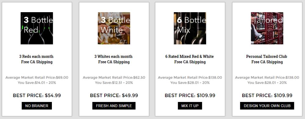 Winecrasher Club Options