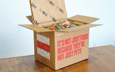 Photo of Nom Nom box opened with ingredients showing