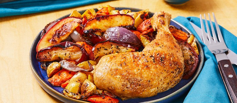 Photo of EveryPlate chicken bake and grilled veggies