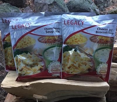 Packs of Legacy Food Storage food
