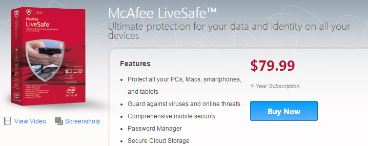 McAfee LiveSafe Review - The BuyersGuide org Blog