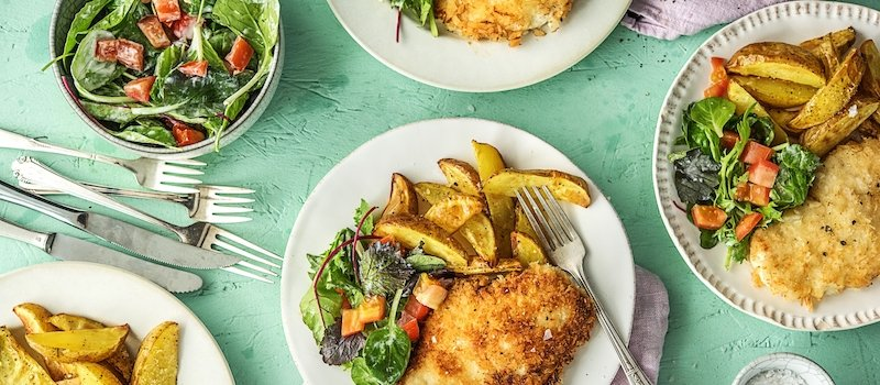 Dishes prepared with HelloFresh recipes