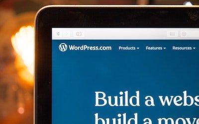 Computer screen with Wordpress open