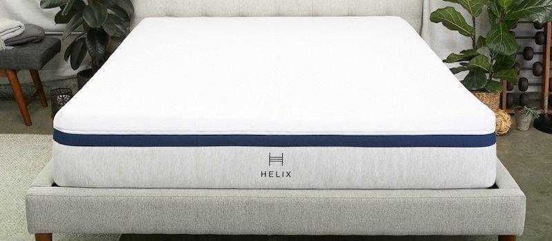 Helix mattress on platform bed