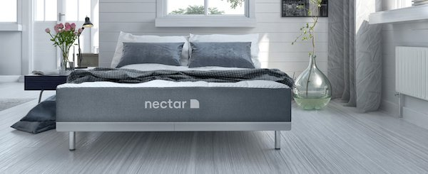 Nectar mattress in modern bedroom