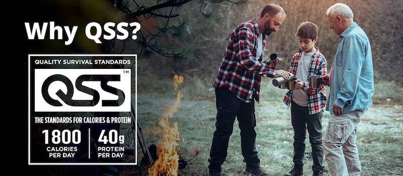 "Three people standing near a campfire with the words ""Why QSS"" on the graphic"