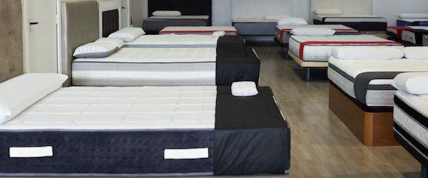 Photo of empty mattress store