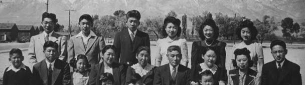 Three generations of the Uchida family at Manzanar War Relocation Center