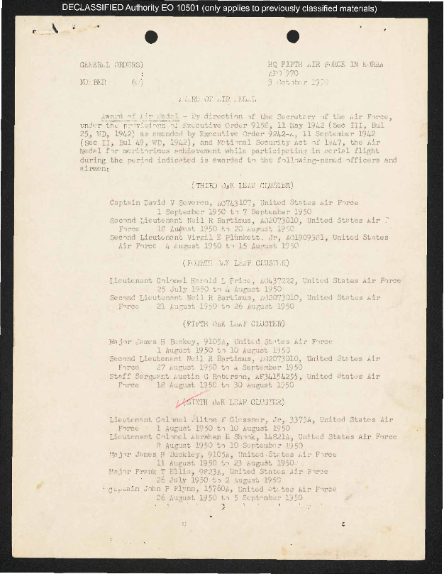 Memorandums, special orders, and correspondence for Charles E. McGee